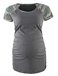 billige -T-skjorte Dame - Kamuflasje, Lapper / Trykt mønster Grå M