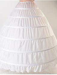 Недорогие -Невеста Classic Lolita 1950-е года Многослойность Платья Нижняя юбка Кринолин Жен. Девочки Костюм Белый Винтаж Косплей Хлопок Свадьба Для вечеринок Принцесса