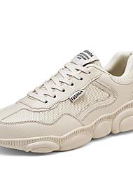 Недорогие -Муж. Комфортная обувь Tissage Volant Весна / Осень Спортивная обувь Белый / Бежевый