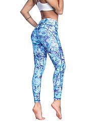 abordables -Femme Pantalon de yoga Bleu Pâle Des sports Mode Collants Course / Running Fitness Entraînement de gym Tenues de Sport Poids Léger Respirable Evacuation de l'humidité Séchage rapide Haute élasticité