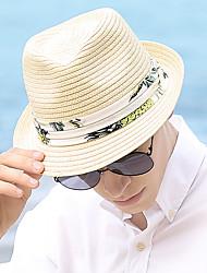 Χαμηλού Κόστους -Άχυρο Ψάθινα καπέλα με Εκτύπωση 1 τμχ Καθημερινά Ρούχα / Belmont Stakes Headpiece