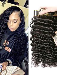 olcso -3 csomag Brazil haj Mély hullám 100% Remy hajszövési csomó Az emberi haj sző Egy Pack Solution Emberi haj tincsek 8-28 hüvelyk Természetes szín Emberi haj sző Szagmentes Kreatív Selymes Human Hair
