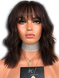 halpa -Synteettiset peruukit Laineita Tyyli Keskiosa Suojuksettomat Peruukki Ruskea Vaalean ruskea Synteettiset hiukset 16 inch Naisten Naisten Ruskea Peruukki Pitkä Luonnollinen peruukki