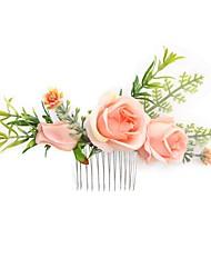 Недорогие -Ткань Расчески / Аксессуары для волос с Цветы 1 шт. Свадьба / Особые случаи Заставка