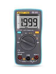 halpa -zt98 digitaalinen automaattinen kantamittari 2000 laskee taustavalon AC / dc-ampeerimittarin jännitemittarin voltimittarin ohmin kannettavan mittarin