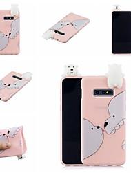 halpa -Etui Käyttötarkoitus Samsung Galaxy S9 Plus / S8 Plus Kuvio Takakuori Eläin / Piirretty Pehmeä TPU varten S9 / S9 Plus / S8 Plus