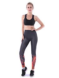 Недорогие -Жен. С высокой талией Штаны для йоги 3D-печати Эластан Бег Фитнес Тренировка в тренажерном зале Велоспорт Колготки Спортивная одежда Дышащий Подтяжка Утягивание живота Для тренировки Power Flex