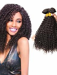 저렴한 -3 개 묶음 브라질리언 헤어 Kinky Curly 100 % 레미 헤어 위브 번들 인간의 머리 직조 번들 헤어 인모 연장 8-28 inch 자연 색상 인간의 머리 되죠 최고의 품질 새로운 도착 패션 인간의 머리카락 확장 여성용