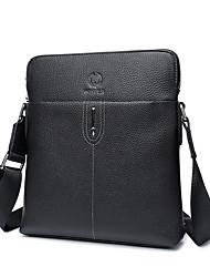 Недорогие -мужские сумки наппа кожаная сумка через плечо сплошной цвет черный