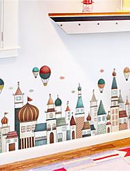 povoljno -europska arhitektura dvorac bedboard zid naljepnica crtani dječja soba dnevni boravak spavaća soba hodnik ornament naljepnice