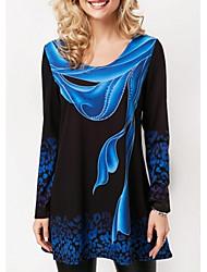baratos -Mulheres Camiseta Gráfico Azul XXXL