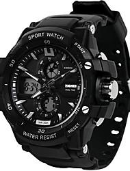Недорогие -SKMEI Муж. электронные часы Морские часы с печатью Цифровой силиконовый Черный 30 m Защита от влаги Календарь С двумя часовыми поясами Аналого-цифровые На открытом воздухе Мода - / Хронометр