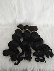 halpa -Letitetty Kihara Kudotut Aidot hiukset 3 osainen punokset Musta 14 tuumaa Naisten / extention Koulu / Deitti Brasilialainen