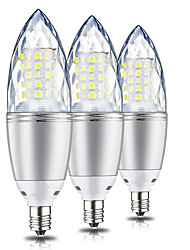 preiswerte -10 W LED Mais-Birnen 1000 lm E12 T 60 LED-Perlen SMD 2835 Dekorativ Warmes Weiß 220 V 110 V, 3 Stück