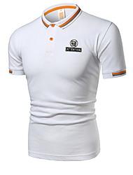 cheap -Men's T-shirt - Solid Colored Print Black XL