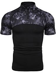 abordables -Hombre Retazos Camiseta camuflaje Negro XL