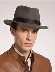 baratos -Feltro de lã Chapéus com Penas / Pêlo 1 Pça. Escritório / Carreira / Kentucky Derby Capacete