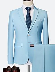 billiga -Herr kostymer Hakslag Polyester Vin / Ljusblå / Marinblå XXXXL / XXXXXL / XXXXXXL