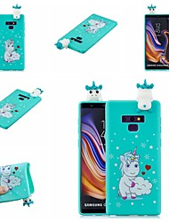 abordables -Coque Pour Samsung Galaxy Note 9 / Note 8 Motif Coque Animal / Bande dessinée Flexible TPU pour Note 9 / Note 8