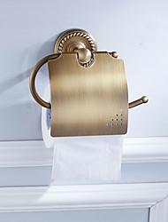 お買い得  -トイレットペーパーホルダー 新デザイン アンティーク 真鍮 6本 - ホテルバス 壁式