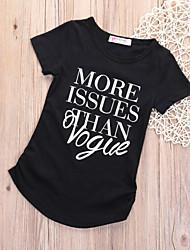 お買い得  -子供 / 幼児 女の子 ベーシック ソリッド 半袖 コットン Tシャツ ホワイト