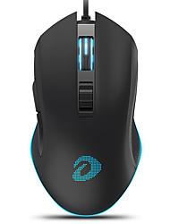 levne -dareu em905 kabelové usb optická herní myš vícebarevný podsvícený 4000 dpi 5 nastavitelných dpi úrovně 6 ks klíče