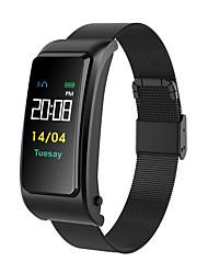 hesapli -KUPENG B77 Kadın Akıllı Bilezik Android iOS Bluetooth Smart Sporlar Kalp Ritmi Monitörü Kan Basıncı Ölçümü Dokunmatik Ekran Pedometre Arama Hatırlatıcı Aktivite Takipçisi Uyku Takip Edici Hareketsiz
