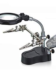 Недорогие -многофункциональный вспомогательный зажим электрический железный ремень светодиодный свет ремонт мобильного телефона светодиодный кронштейн настольного увеличительное стекло