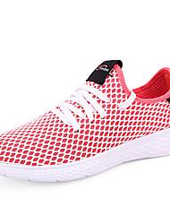 economico -Per uomo Scarpe comfort Retato / Tessuto elastico Estate Per sport scarpe da ginnastica Corsa Antiscivolo Monocolore Bianco / Grigio / Rosso