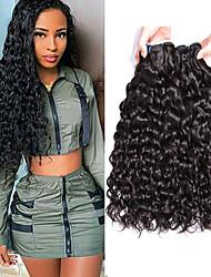 billige -3 Bundler malaysisk hår Vand Bølge Jomfruhår 100% Remy Hair Weave Bundles Hovedstykke Bundle Hair Hårforlængelse af menneskehår 8-28 inch Naturlig Menneskehår Vævninger Moderigtigt Design Bedste
