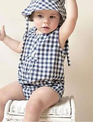 levne -2ks Dítě Dívčí Základní Tisk Bez rukávů Bavlna Bodysuit Vodní modrá