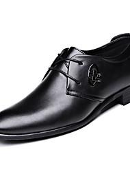 abordables -Homme Chaussures de confort Cuir Printemps Business Oxfords Respirable Noir