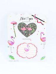 Недорогие -Новинка бумага фламинго дизайн записная книжка / заметка для школьного офиса канцелярские четыре цвета