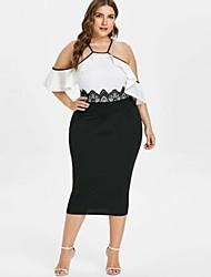 preiswerte -Damen Elegant Hülle Kleid - Rückenfrei, Solide Midi