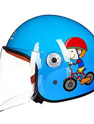 Недорогие -Каска Дети Универсальные Мотоциклистам Легко туалетный / Детский Безопасный случай / Ультралегкий (UL)