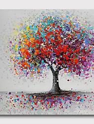 Недорогие -ручная роспись натянутая картина маслом холст готов повесить абстрактный стиль материал большое количество деревьев стены искусства современные деревья фиолетовый