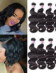 저렴한 -4 묶음 브라질리언 헤어 바디 웨이브 미처리 인모 인간의 머리 직조 익스텐션 번들 헤어 8-28inch 자연 색상 인간의 머리 되죠 안전 새로운 도착 패션 인간의 머리카락 확장 여성용