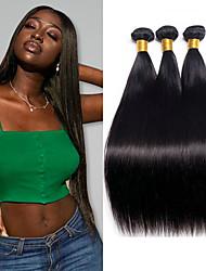 ราคาถูก -3 Bundles / กลุ่ม ผมอินเดีย Straight ไม่ได้เปลี่ยนแปลง 100% Remy Hair Weave Bundles มัดผม ผมต่อแท้ ผมผ้าที่มีการปิด 8-28 inch ธรรมชาติ สานเส้นผมมนุษย์ ผู้หญิง extention ทอ ส่วนขยายของผมมนุษย์