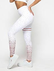 Недорогие -Жен. Штаны для йоги Противотуманное освещение Бег Фитнес Велоспорт Колготки Спортивная одежда Влагоотводящие Эластичная Обтягивающие