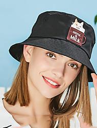 Недорогие -Шляпа для туризма и прогулок Панамы Кепка 1 ед. С защитой от ветра Защита от солнечных лучей Дышащий Ультрафиолетовая устойчивость Рисунок Хлопок Весна для Жен. Отдых и Туризм Рыбалка Путешествия