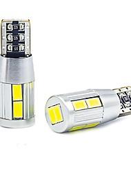 Недорогие -Супер белый клин t10 10 smd 5630 светодиодные лампочки w5w 2825 158 192 168 194