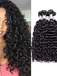 voordelige -4 bundels Peruaans haar Watergolf Niet verwerkt Menselijk Haar Menselijk haar weeft Bundle Hair Extentions van mensenhaar 8-28 inch(es) Natuurlijke Kleur Menselijk haar weeft Zacht Stress en angst