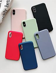 hesapli -Apple iphone xr / iphone xs maxfrosted arka kapak için katı renkli yumuşak tpu 6 6 artı 6 s 6 splus 7 8 7 artı 8 artı x xs