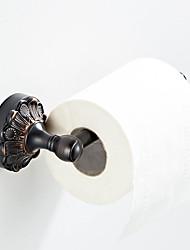 Недорогие -держатель для туалетной бумаги с черным тиснением в стиле ретро, новый дизайн, кантри / античная латунь 1шт.