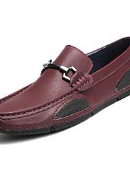 abordables -Homme Chaussures de confort Cuir Printemps Simple Mocassins et Chaussons+D6148 Preuve de l'usure Noir / Bleu / Bourgogne