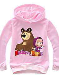 levne -Děti / Toddler Dívčí Základní Tisk Tisk Dlouhý rukáv Bavlna / Spandex Mikinky Světlá růžová
