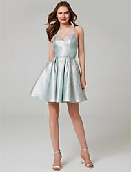 Χαμηλού Κόστους -Γραμμή Α Λεπτές Τιράντες Μέχρι το γόνατο Με πούλιες Φανταχτερό Επίσημο Βραδινό Φόρεμα με Πούλιες με TS Couture®