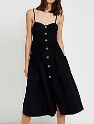 preiswerte -Damen Hülle Kleid - Rückenfrei, Solide Verziert Midi