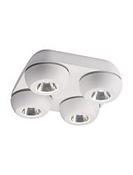 abordables -ZHISHU 4 lumières Géométrique / Nouveauté Plafonniers Lumière dirigée vers le bas Finitions Peintes Métal Acrylique LED, Design nouveau, Cool 110-120V / 220-240V Blanc Crème / Blanc / Wi-Fi