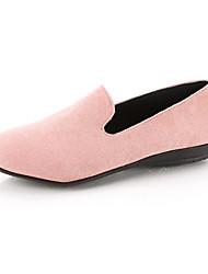 ราคาถูก -สำหรับผู้หญิง หนังนิ่ม ฤดูใบไม้ผลิ รองเท้าส้นเตี้ยทำมาจากหนังและรองเท้าสวมแบบไม่มีเชือก ส้นแบน สีเทา / กาแฟ / สีชมพู